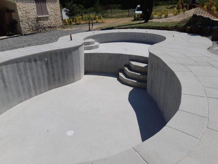 Forme piscine beton
