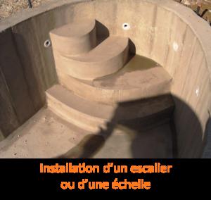Installation d'un escalier ou d'une echelle