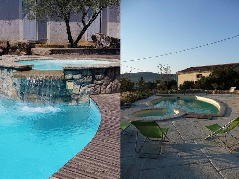 Spa piscine béton